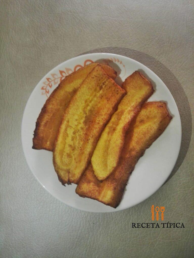 tajadas de plátano maduro