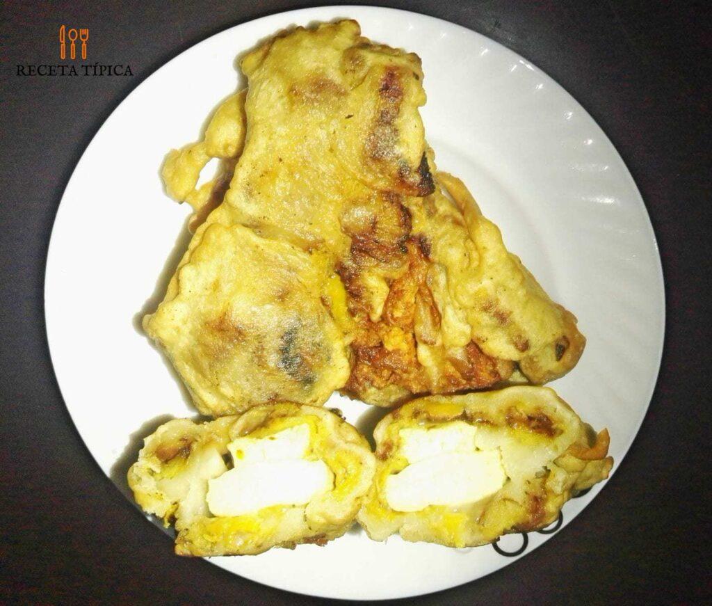 dish with aborrajados