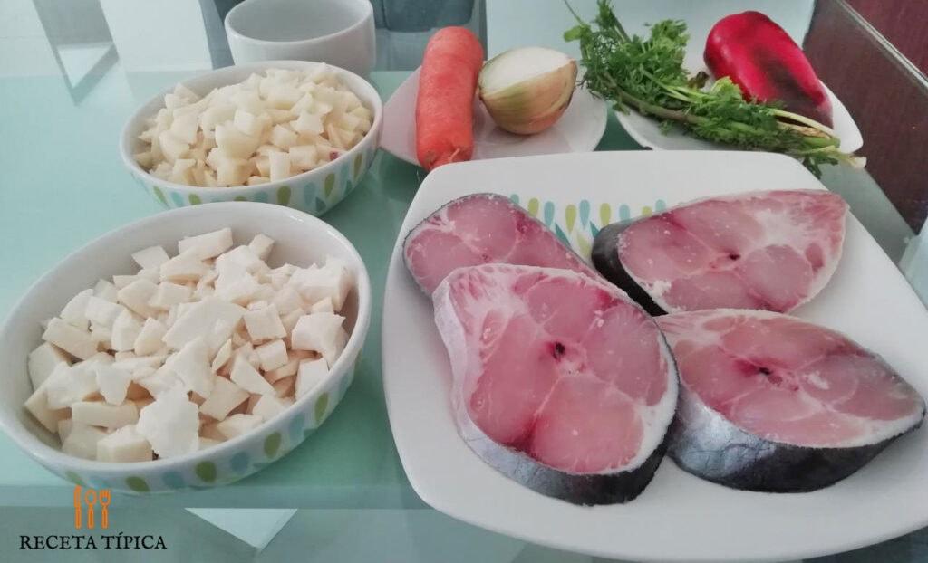 Ingredientes para preparar sopa de pescado
