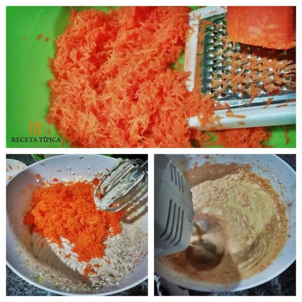 Instrucciones paso a paso para preparar torta de zanahoria