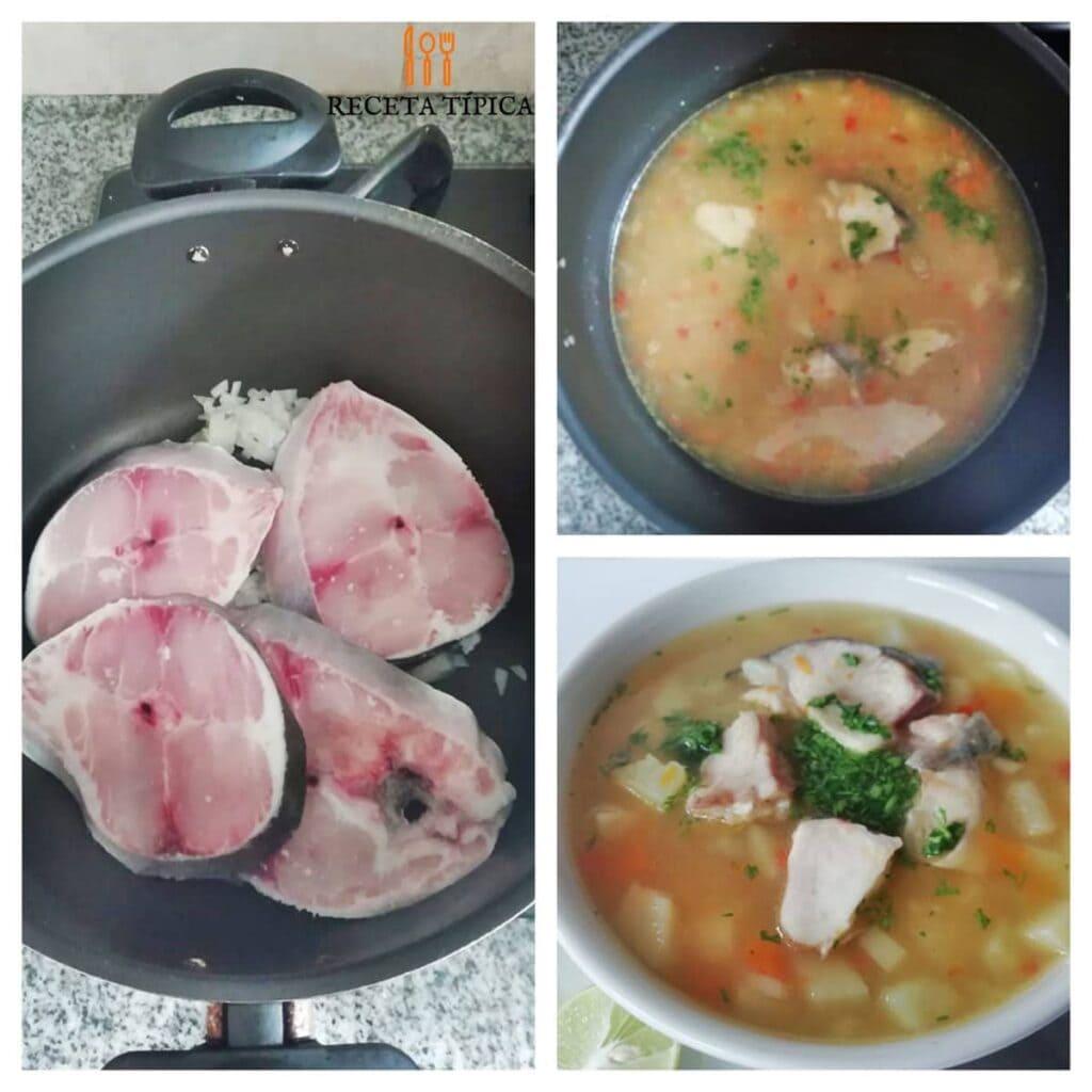 Instrucciones paso a paso para preparar sopa de pescado