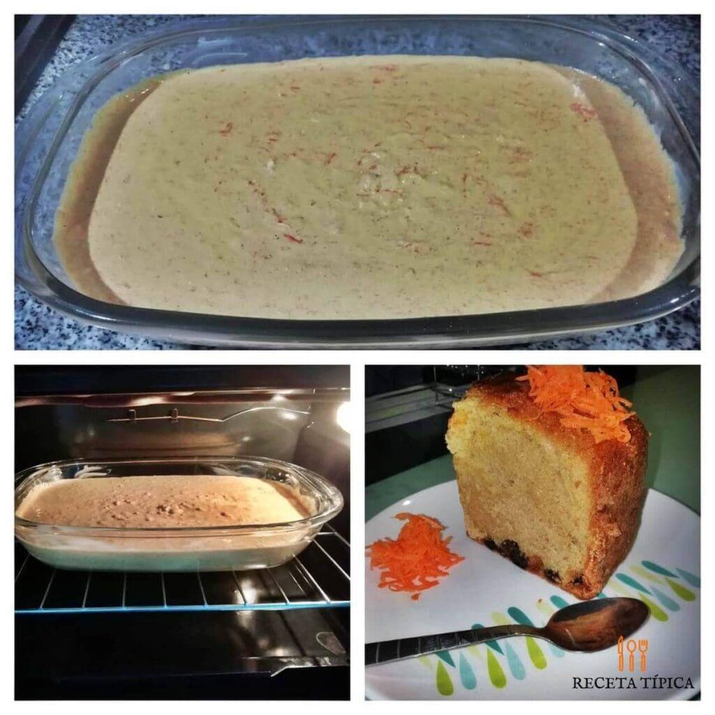 Instrucciones para preparar torta de zanahoria