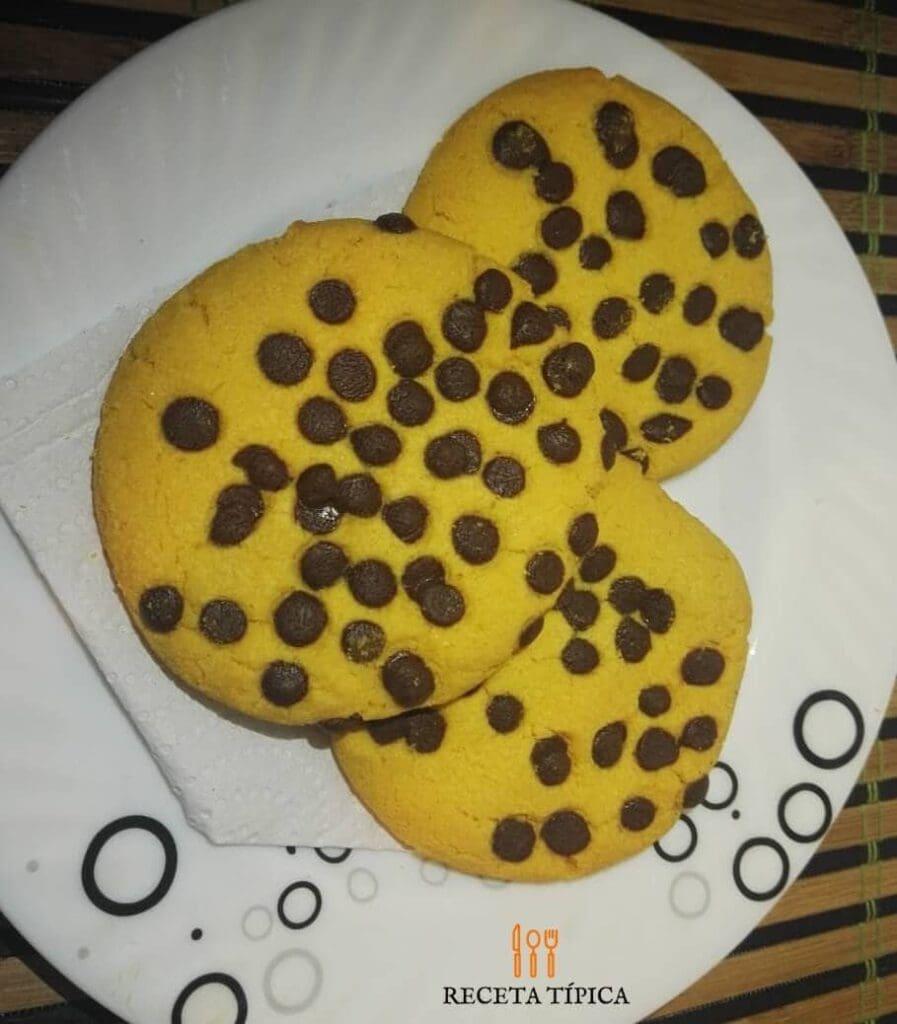 galletas con chispas de chocolate
