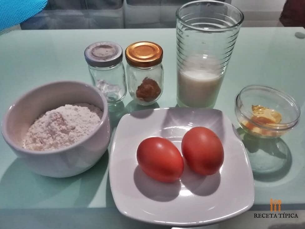 ingredientes para preparar panqueques