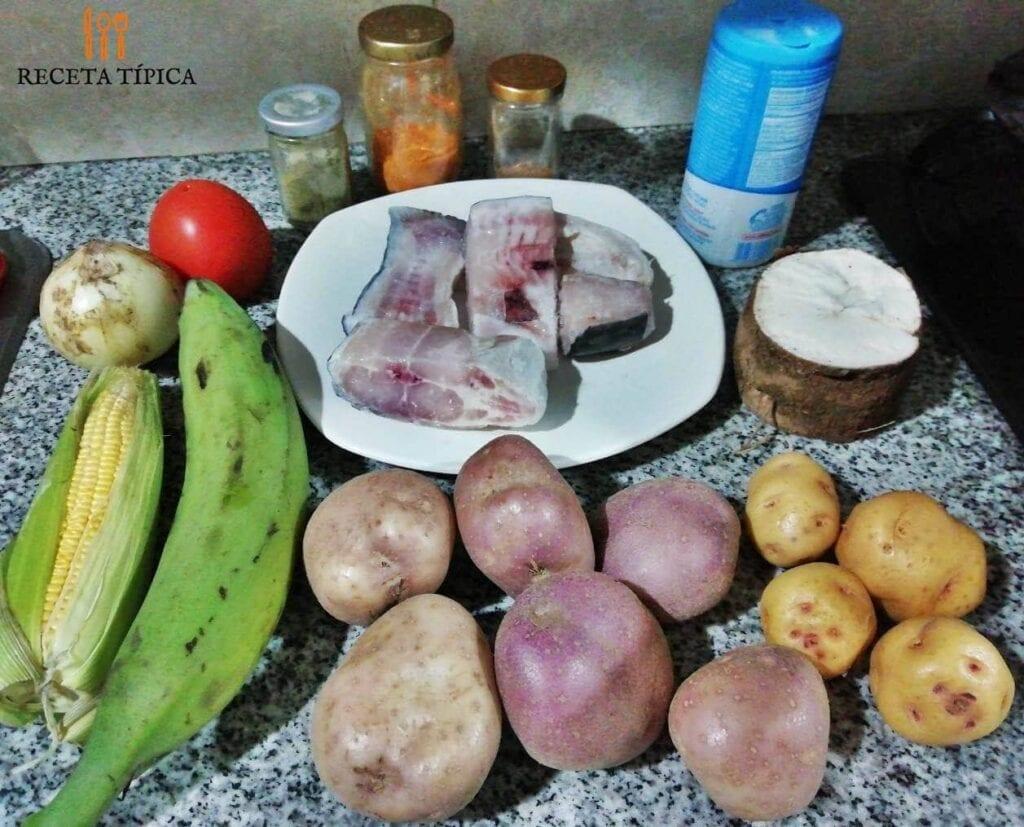 ingredientes para preparar sancocho de pescado