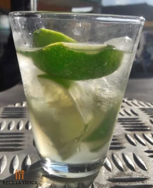 Glass with caipirinha Cocktail