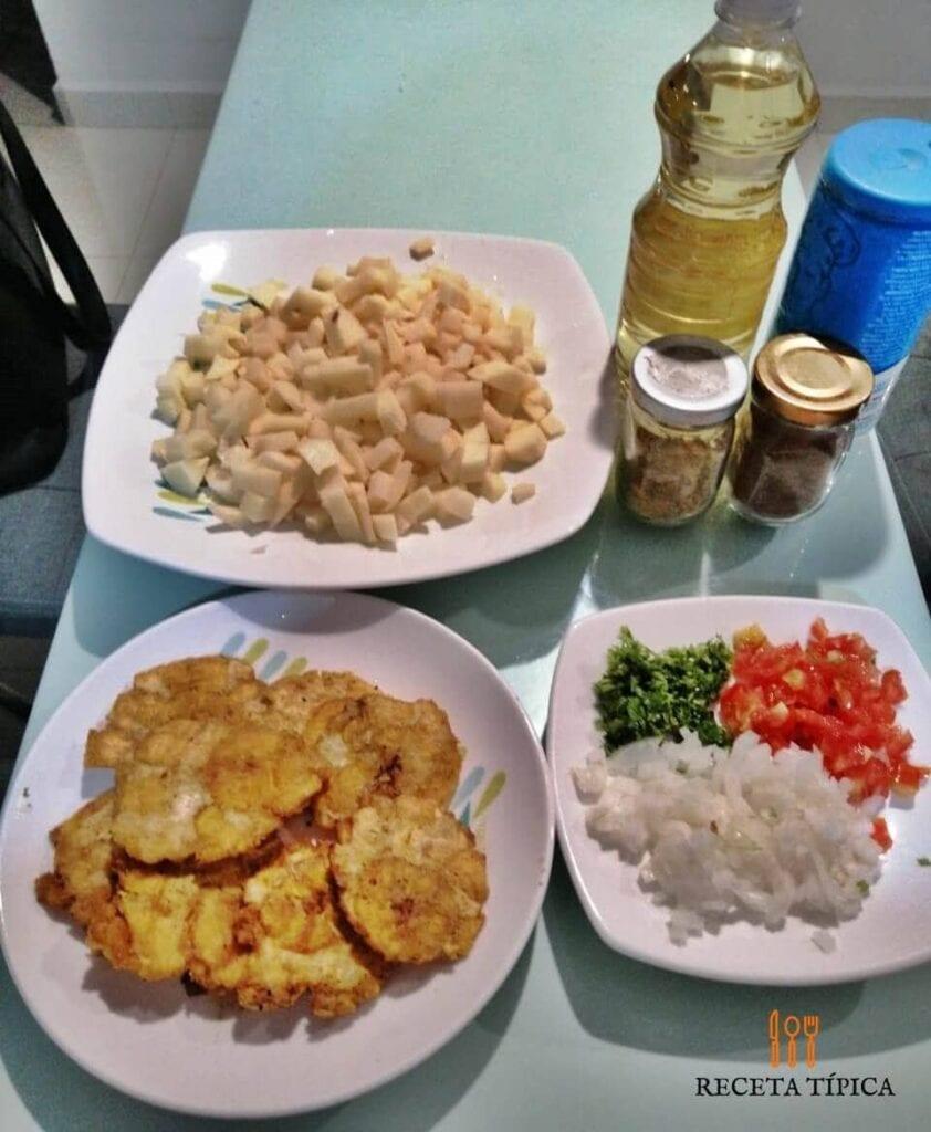 Ingredientes para preparar sopa de patacón