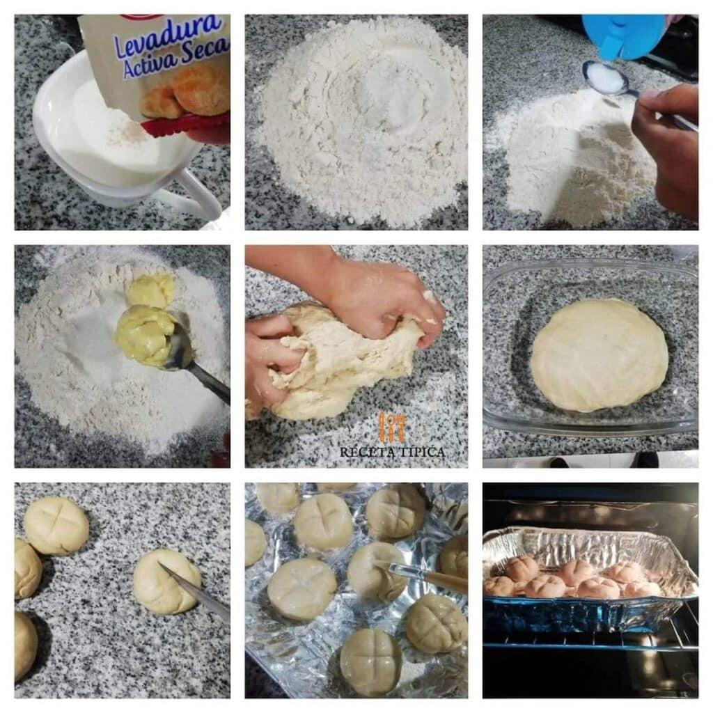 Instrucciones paso a paso para preparar pan de leche