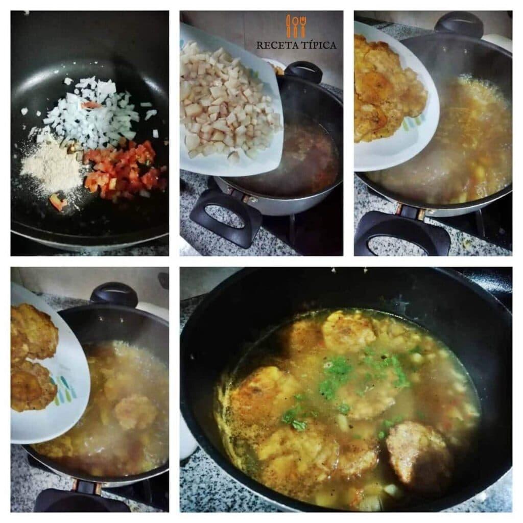 instrucciones paso a paso para preparar sopa de patacón