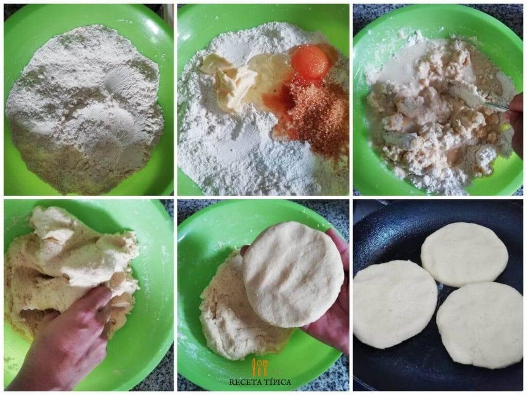 Instrucciones paso a paso para preparar arepas de harina de trigo