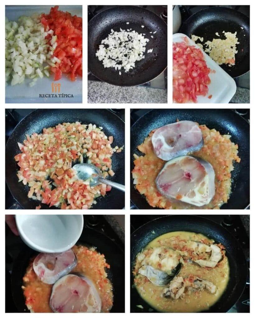 instrucciones paso a paso para preparar bagre en salsa