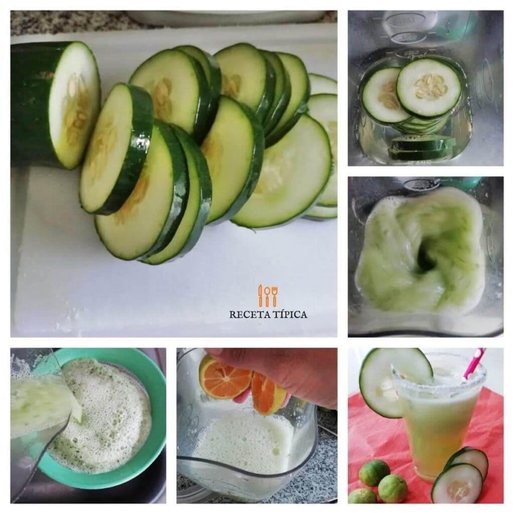 Instrucciones paso a paso para preparar limonada de pepino