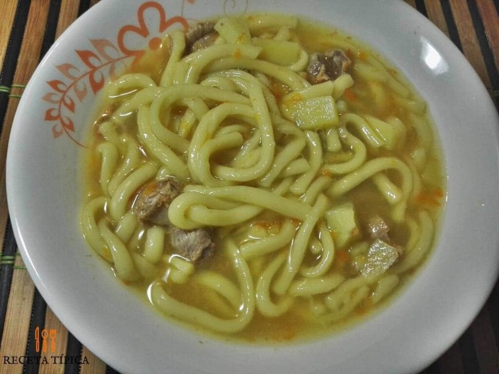 Dish with noodle Soup