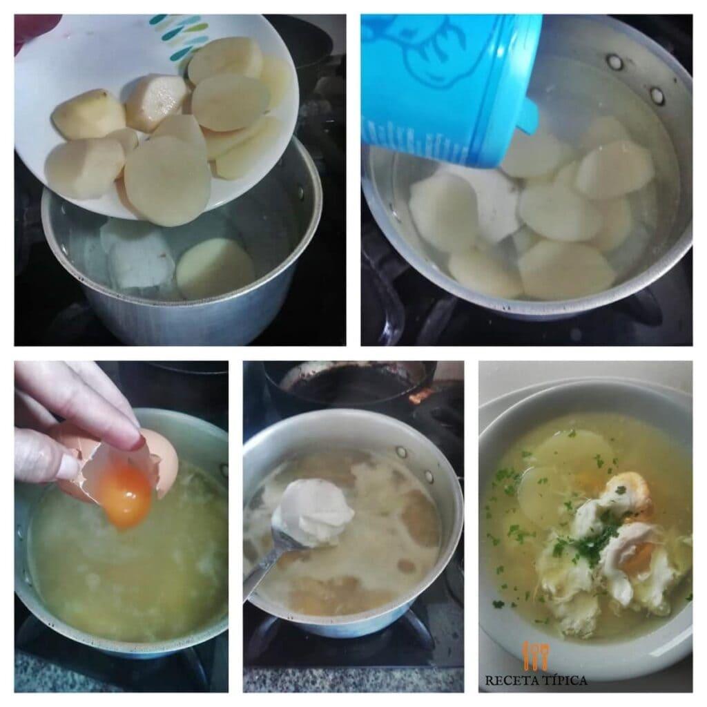 Instrucciones paso a paso para preparar sopa de huevo