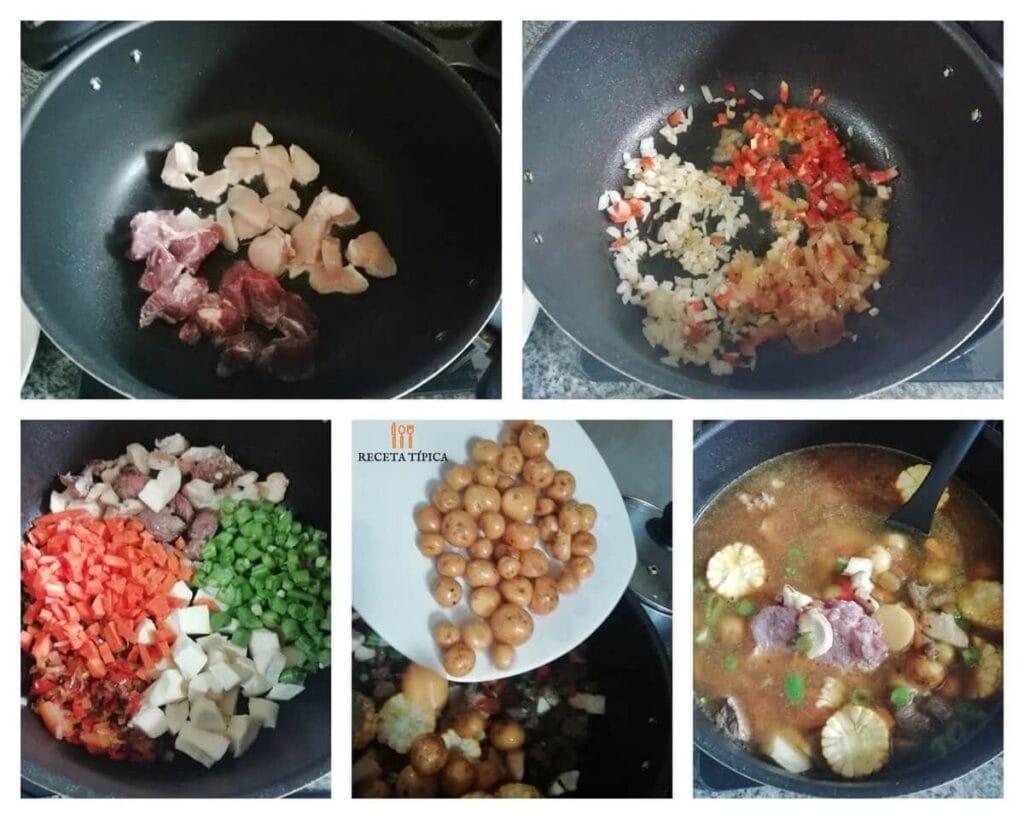 Instrucciones paso a paso para preparar cazuela criolla