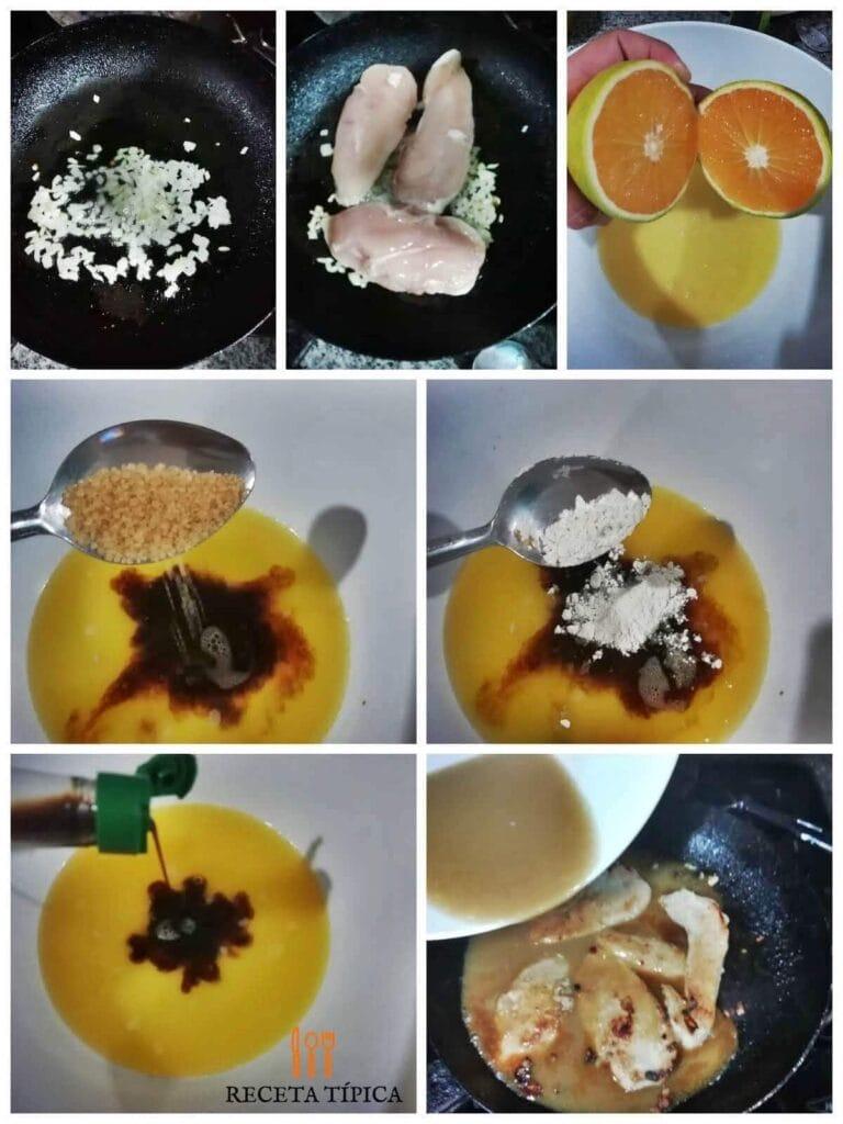 Instrucciones paso a paso para preparar pollo a la naranja