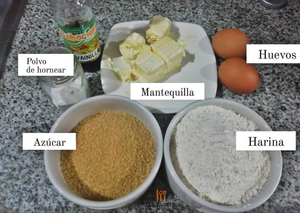 Ingredientes para preparar galletas de mantequilla