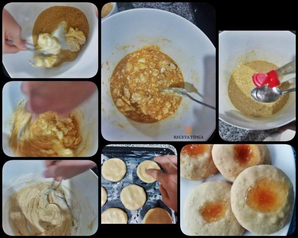 Instrucciones paso a paso para preparar galletas rellenas de mermelada
