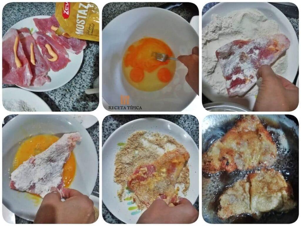Instrucciones para preparar milanesa de cerdo
