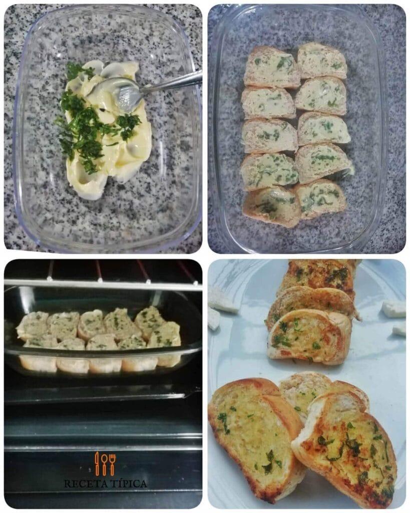 Instrucciones paso a paso para preparar pan de ajo