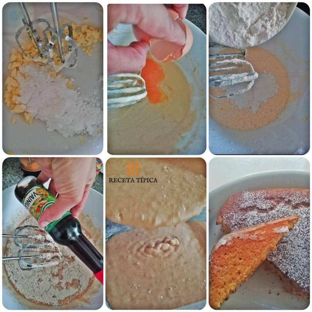 Instrucciones paso a paso para preparar pastel de vainilla