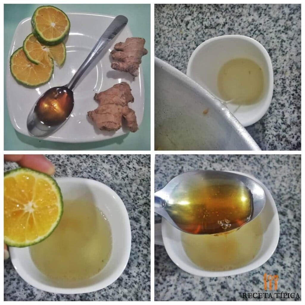 instrucciones paso a paso para preparar té de jengibre