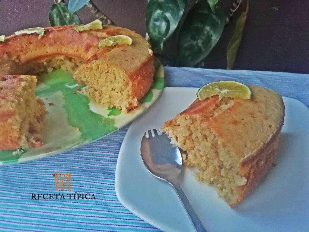 Torta de limón porcionada