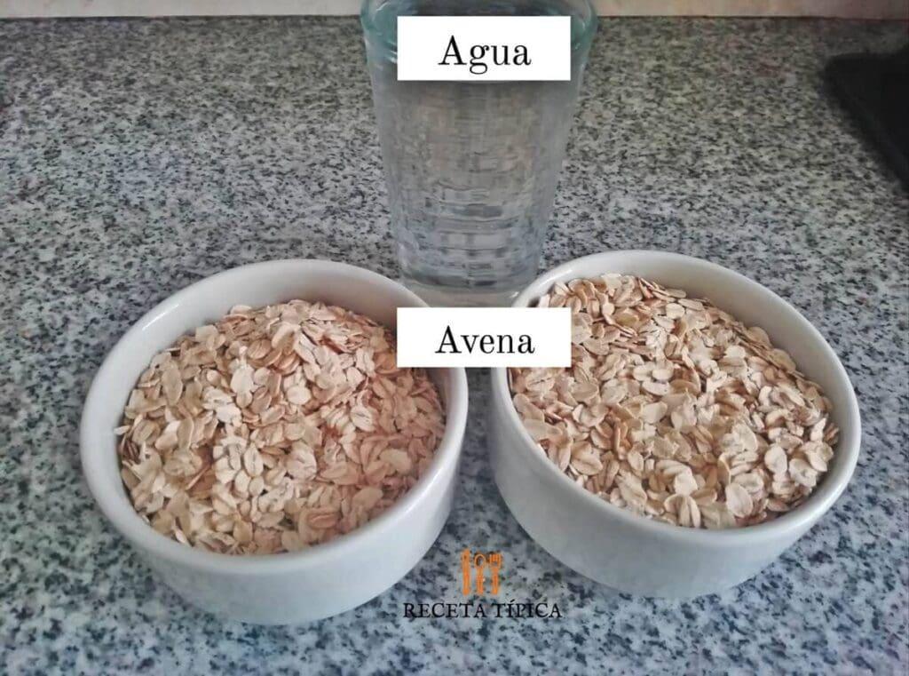Ingredientes para preparar leche de avena
