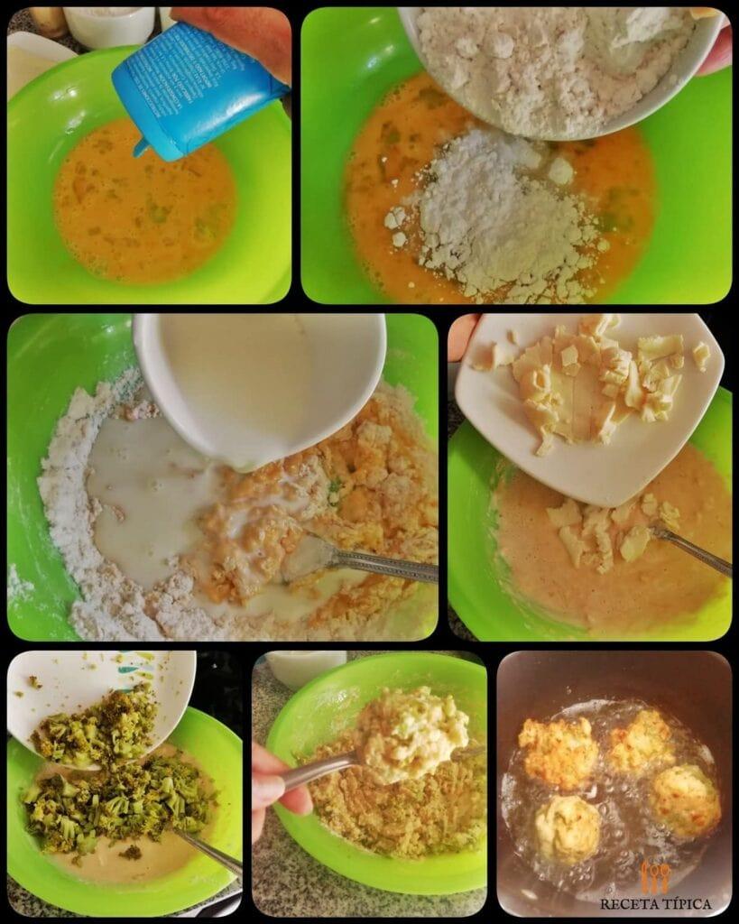 Instrucciones paso a paso para preparar buñuelos de brócoli